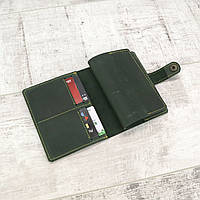 Обложка для паспорта Mihey gs 400 зеленая из натуральной кожи crazy horse 1150201, фото 1