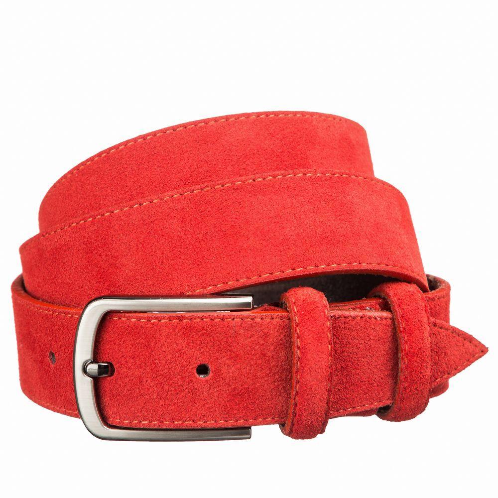 Ремень замшевый MAYBIK 15264 Красный