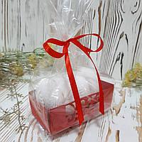Картонна підкладка ажурна червона, фото 1