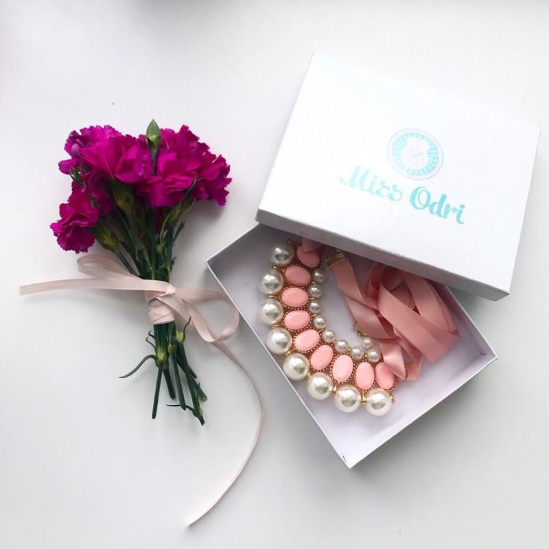 КОЛЬЕ ALBINA розовое
