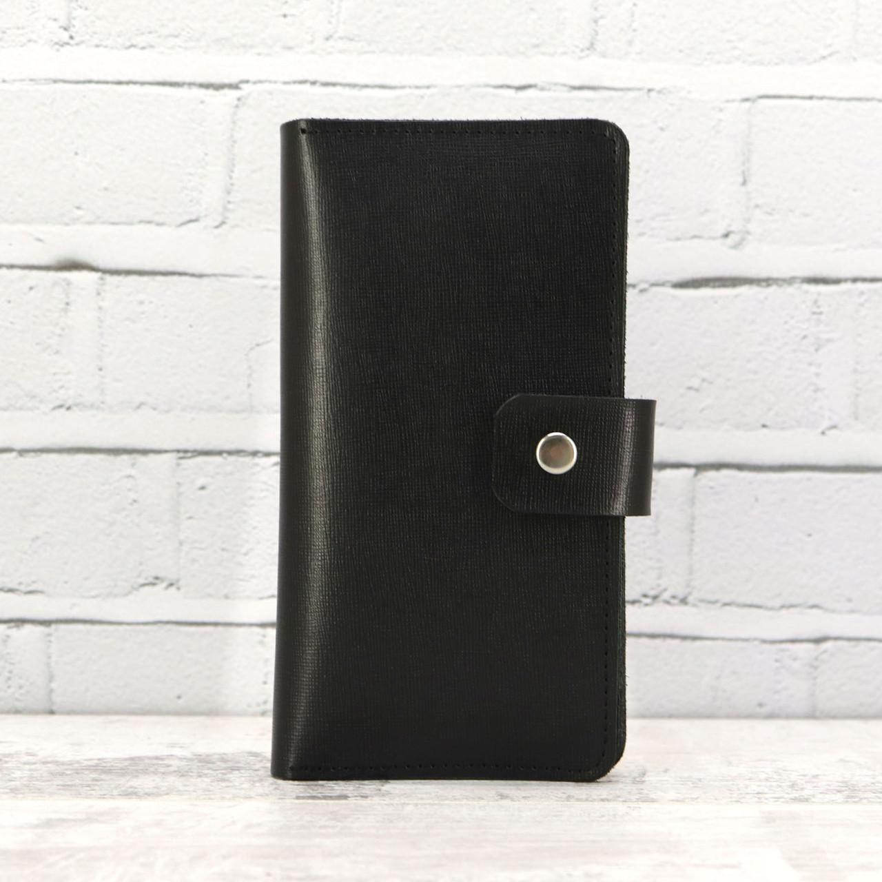 Кошелёк sv 499 черный из натуральной кожи saffiano