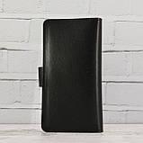 Кошелёк sv 499 черный из натуральной кожи saffiano, фото 2