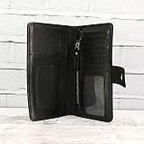 Кошелёк sv 499 черный из натуральной кожи saffiano, фото 3