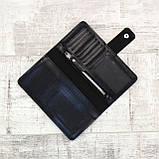 Кошелёк sv 499 черный из натуральной кожи saffiano, фото 4