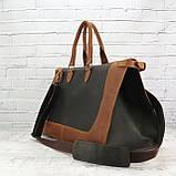 Дорожная сумка tree коньячная коричневая из натуральной кожи crazy horse, фото 9