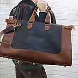Дорожная сумка tree коньячная коричневая из натуральной кожи crazy horse, фото 4