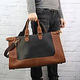Дорожная сумка tree коньячная коричневая из натуральной кожи crazy horse, фото 2