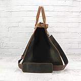 Дорожная сумка tree коньячная коричневая из натуральной кожи crazy horse, фото 5