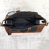 Дорожная сумка tree коньячная коричневая из натуральной кожи crazy horse, фото 7