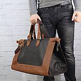 Дорожная сумка tree коньячная коричневая из натуральной кожи crazy horse, фото 6