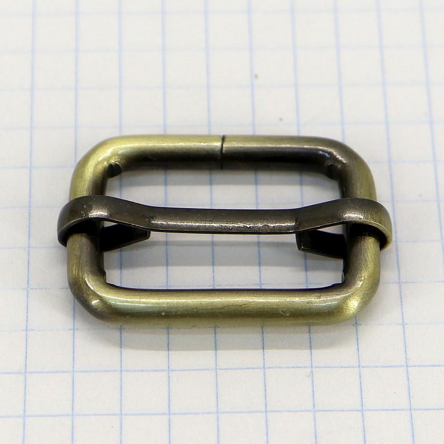 Регулятор пряжка перетяжка 25 мм антик для сумок a5996 (10 шт.)