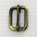 Регулятор пряжка перетяжка 25 мм антик для сумок a5996 (10 шт.), фото 2