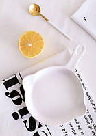 "Тарелка для сервировки в виде сковороды ""LoveAffair"", белая 16см."