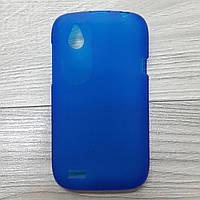Чехол силиконовый для HTC Desire V / t328w синий