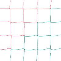 Сетка футбольная «ЭКОНОМ 1,5» красно-зелёная (комплект из 2 шт.) для Республики Беларусь