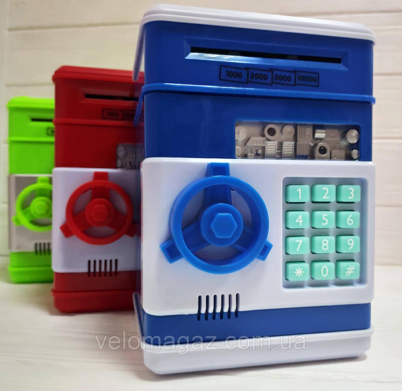 Іграшковий сейф з купюро-приймачем, світло, звук, кодовий замок