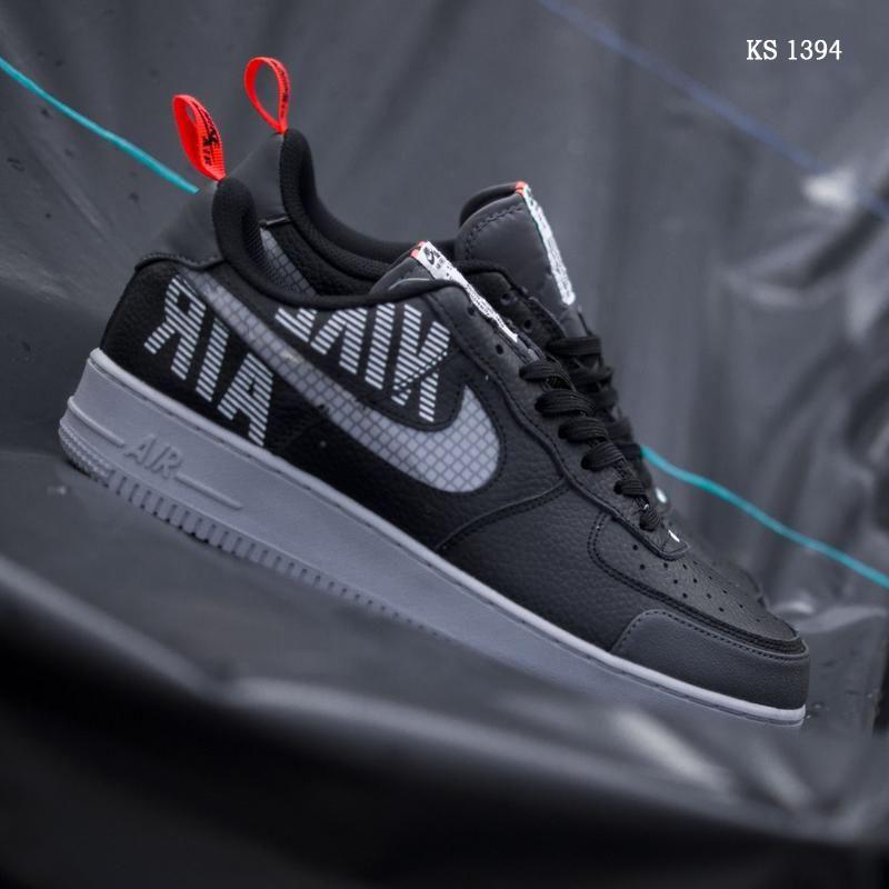 Мужские кроссовки Nike Air Force 1 LV8 низкие, рефлективные / кросівки Найк форс (топ реплика ААА+)