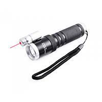 Тактический фонарь POLICE BL 9846 Q5 50000W фонарик + лазер 600 Lumen