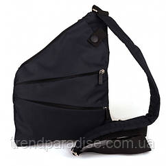 Мужская сумка Cross Body 4634 Мессенджер антивор на плечо рюкзак слинг Чёрная Aboel
