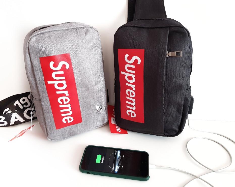 Мужская сумка Supreme мессенджер-планшетка-барсетка