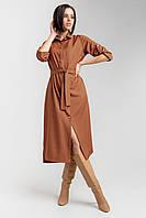 Платье-рубашка из легкой, шелковистой и приятной на ощупь ткани