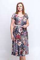 Женское летнее платье с цветами. Размер 50-54