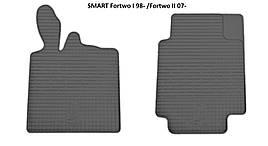 Коврики в салон резиновые Stingray SMART Fortwo I 1998