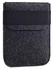 Чехол войлочный на резинке Gmakin для Amazon Kindle Paperwhite Темно-серый GK02, КОД: 145066