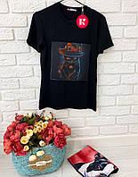 Женская классическая футболка с принтами котов 42-50 р