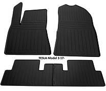 Коврики в салон резиновые Stingray TESLA Model 3 2017