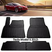 Коврики в салон резиновые Stingray TESLA Model S 2012