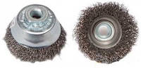 Щетка чашечная 100хМ14х2,0 гофрированный стальной провод 0,35 мм 426177, КОД: 1384155