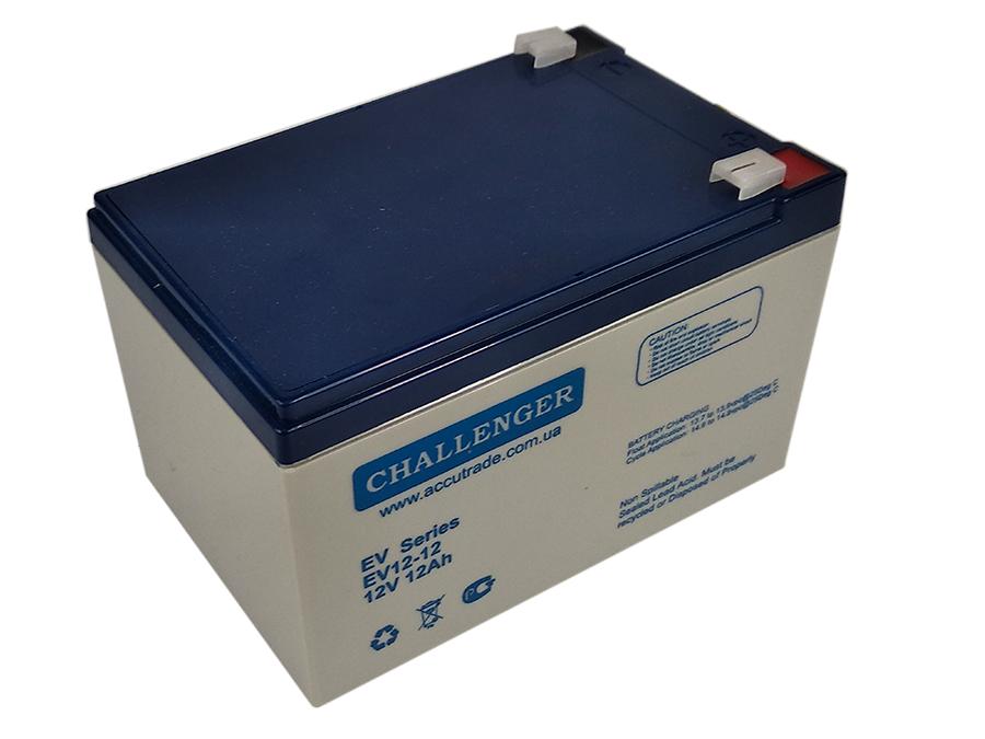 Аккумулятор для электроскутеров, инвалидных колясок, электровелосипедов EV12-12 (12Вольт, 12Ач).