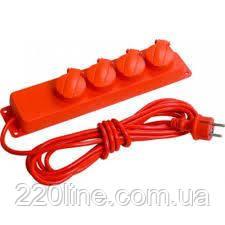 Удлинитель  У05В 5 места с защитными крышками IP44 2Р+PE/5метров  3х1мм2  16А/250В   IEK