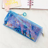 Пенал Holographic with Sparkles Two Colors blue