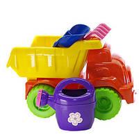 Машинка для песочницы  № 2 (013565) Салатово-фиолетовая