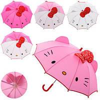 Зонт детский (MK 2612) Нежно-розовый с белым
