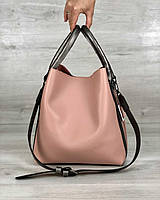 Молодежная женская сумка Леора персикового цвета, фото 1