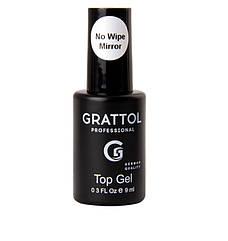 Grattol, No Wipe Top Gel Mirror - топ без липкого шару, 9 мл