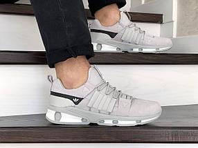 Кросівки чоловічі замша еко 15\9133 білі, фото 3