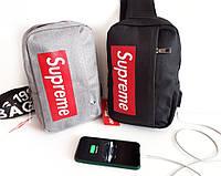 Мужская сумка/рюкзак Supreme мессенджер-планшетка-барсетка