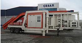 Мобильный бетонный завод Сesan MBS 60