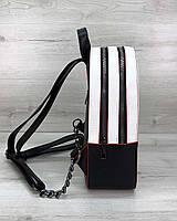 Рюкзак черно-белый с красным, фото 1