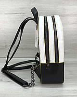 Рюкзак черно-белый с желтым, фото 1