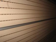Перфорированная шпонированная панель из MDF Decor Acoustic 30/2 2400*576*17 мм орех