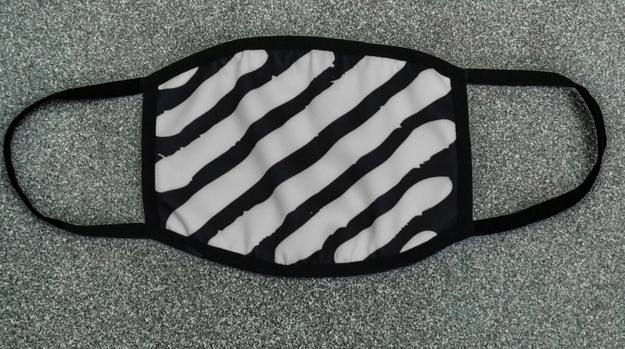 Маска для лица черно-серая