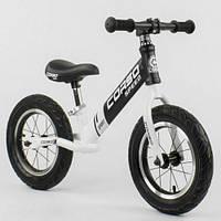 Детский беговел (велобег), Corso 10234, стальная рама, колесо 12 дюймов, белый 11/34.2