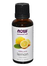 100% эфирное масло лимона, Now Foods Essential Oils Lemon 30 ml