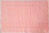 Полотенце махровое для ног розовое (Турция)