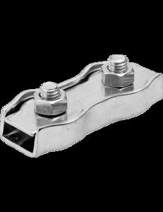 Зажим провода или шнура седельный двойной 2 мм. для электропастуха